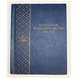 1858-1920 CANADA SILVER NICKEL SET: