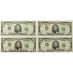 "FOUR 1977 $5.00 RICHMOND ""STAR NOTES"""