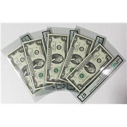 9*FIVE PCS. 2003 $2.00 MINNEAPOLIS FEDERAL RESERVE