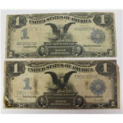 "TWO 1899 ""BLACK EAGLE"" SILVER CERTIFICATES"