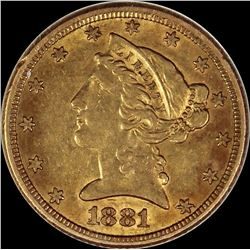 1881 $5.00 GOLD