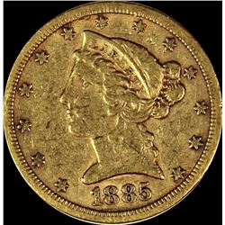 1885-S $5.00 GOLD