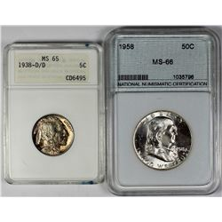 (2) COIN LOT