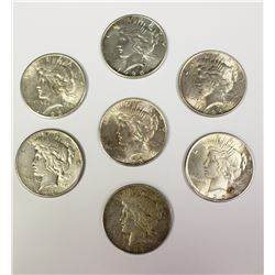 GROUP LOT OF PEACE SILVER DOLLARS