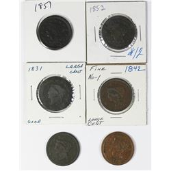 GROUP OF CIRCULATED LARGE CENTS