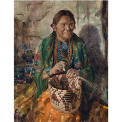 Jimmy Abeita - Hopi Basket Maker