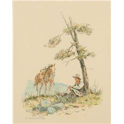 Olaf Wieghorst - Arizona Cowboy