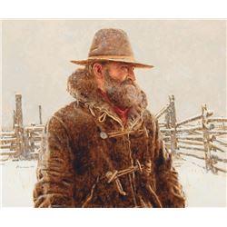 James Bama - Old Corral in Winter