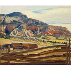 Ernest Blumenschein - Rock of Fire-Morning, Ghost Ranch