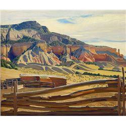 Ernest Blumenschein - Rock of Fire-Morning, Ghost Ranch