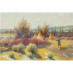 Joseph H. Sharp - February Chinook, Crow Reservation