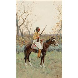 Henry Farny - Indian on Horseback