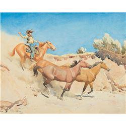 Maynard Dixon - Saddle Stock