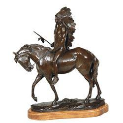 Charles Humphriss - Indian on Horseback