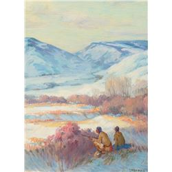 Joseph H. Sharp - Stalking Game Big Horn Montana