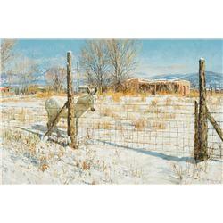 Clark Hulings - Burro Near Talpa, NM