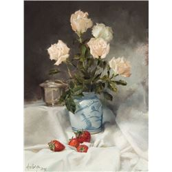 Clark Hulings - Still Life with Antique Chinese Jar