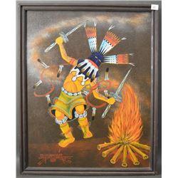 NAVAJO INDIAN PAINTING (YELLOWHAIR)