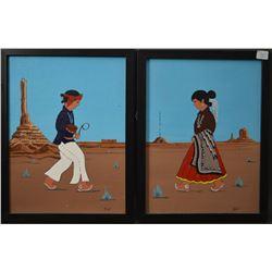 NAVAJO INDIAN PAINTINGS (JOHN CLAW)