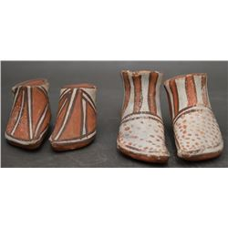 ISLETA INDIAN POTTERY MOCCASINS