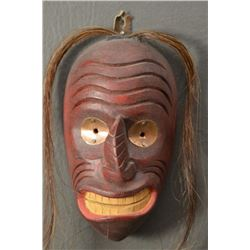 IROQUOIS INDIAN WOODEN MASK (VICTOR SKYE)