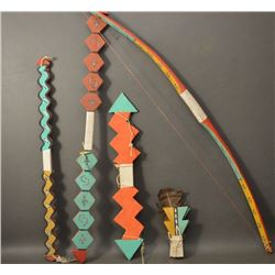 HOPI INDIAN DANCE BOW AND WANDS