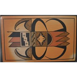 HOPI INDIAN POTTERY TILE (TED HOWATO)