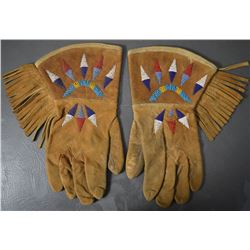 PLAINS INDIAN BEADED GLOVES