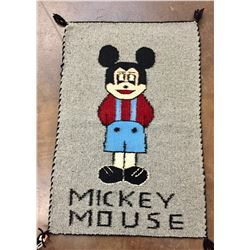 Mickey Mouse Themed Navajo Textile
