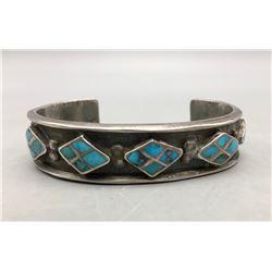 Dishta Style Turquoise Inlay Bracelet