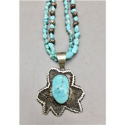 Tommy Jackson Pendant On This Turquoise Necklace