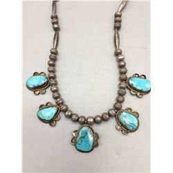 Vintage Five Stone Turquoise Necklace
