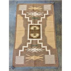 Twill Weave Storm Pattern Design Navajo Textile