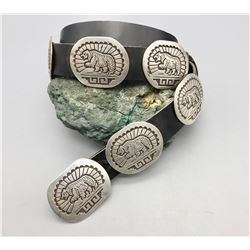 New Old Stock Sterling Silver Concho Belt