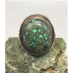 Exquisite Large Stone Turquoise Bracelet by Leonard Nez