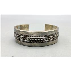 Tom Hawk Sterling Silver Navajo Bracelet