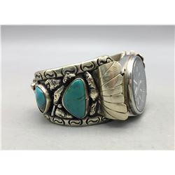 Vintage Four Stone Watch Bracelet
