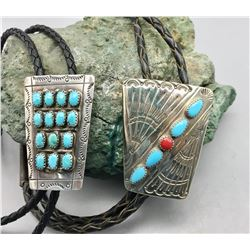 Two New Old Stock Navajo Bolos