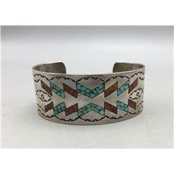 Vintage Navajo Inlay Bracelet