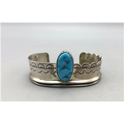 Turquoise and Sterling Silver New Old Stock Bracelet