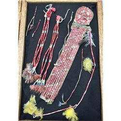 Sioux Quilled Hair Drop with Two Trailers