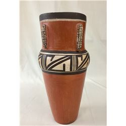 Tall Hopi Vase with Corn Designs