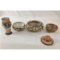 Group of Vintage Hopi Pottery