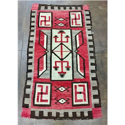 1920s Storm Pattern and Whirling Logs Rug