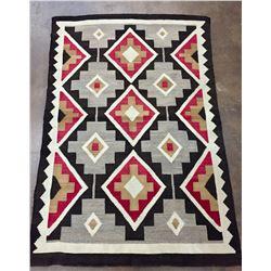 Early 1900s Geometric Pattern Navajo Rug
