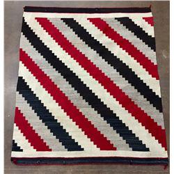 Serrated Step Pattern Navajo Textile