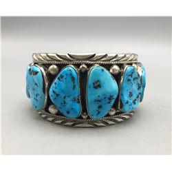 Large Kingman Turquoise Cuff Bracelet