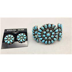 Cluster Bracelet and Earrings