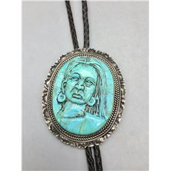 Carved Turquoise Bolo