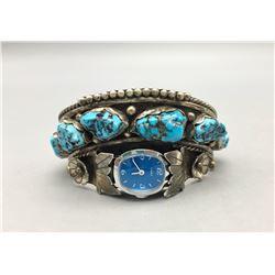 Six Stone Turquoise Watch Cuff